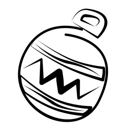 an illustration of a christmas ball Stock Illustration - 10704487