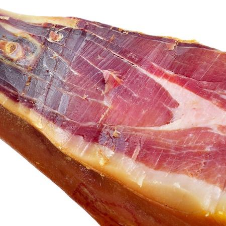 iberian: primo piano di una coscia di prosciutto serrano spagnolo