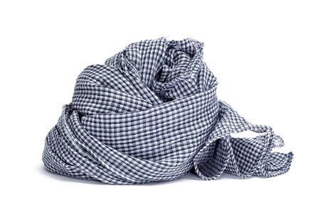 checkered scarf: a checkered scarf on a white background