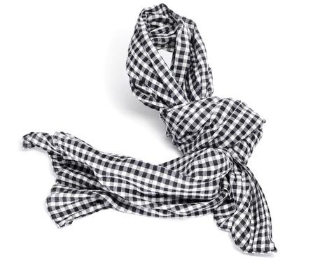 sciarpe: una sciarpa a scacchi su uno sfondo bianco