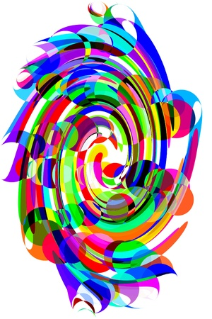 distort: an abstract degraded background of different colors
