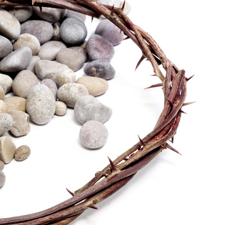 viacrucis: the crown of thorns of Jesus Christ