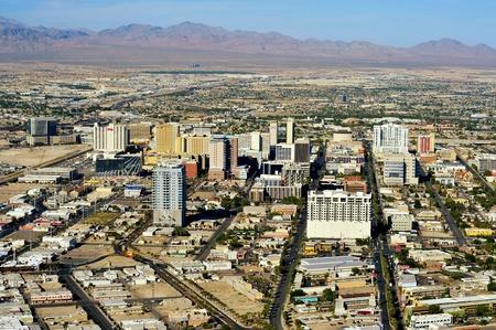 vegas strip: Aerial view of Las Vegas, United States Stock Photo