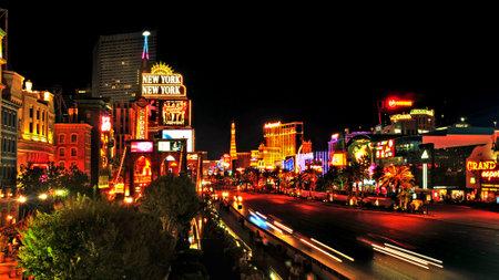 Las Vegas, US - October 11, 2011: Las Vegas Strip at night in Las Vegas, US. 19 of the world