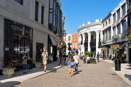 Beverlly Hills, US - October 16, 2011: Two Rodeo in Rodeo Drive in Beverly Hills, US. There are more than 100 world-reknowed boutiques in this area