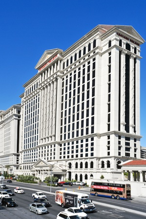 Las Vegas, October 12, 2011: Caesars Palace Hotel in Vegas. The resort has an hotel with 3,349 rooms and its casino is the only in Vegas to host a World Series of Poker Circuit Event Stock Photo - 11175353