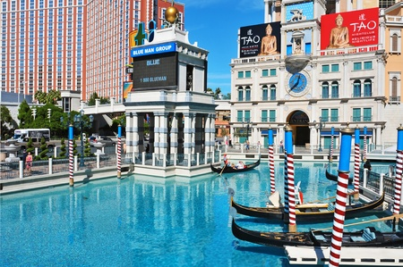 Las Vegas, October 12, 2011: The Venetian Resort Hotel Casino in Vegas, US. The luxury resort has a five-diamond hotel with 4,049 suites and 4,059 hotel rooms Stock Photo - 11175298