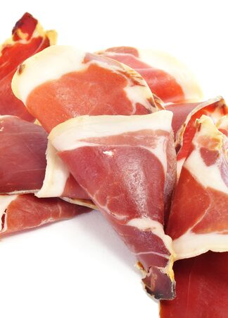 closeup of a pile of spanish serrano ham Stock Photo - 11231959