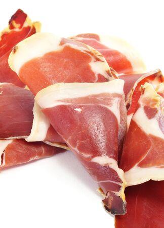 closeup of a pile of spanish serrano ham Stock Photo - 11231959