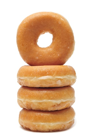 donut: a pile of donuts  on a white background Stock Photo