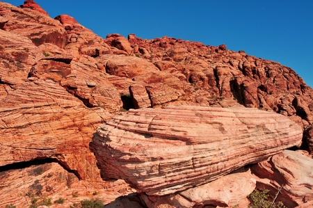 sandstone landscape in Red Rock Canyon National Conservation Area, Nevada, United States photo
