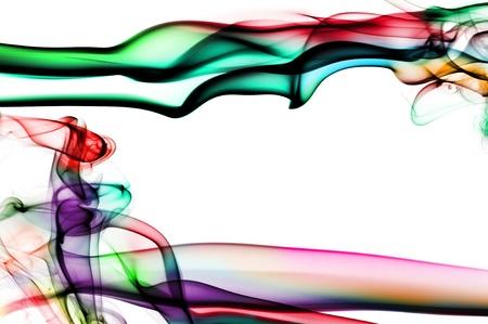 Rauch in verschiedenen Farben auf weißem Hintergrund Standard-Bild - 11231856