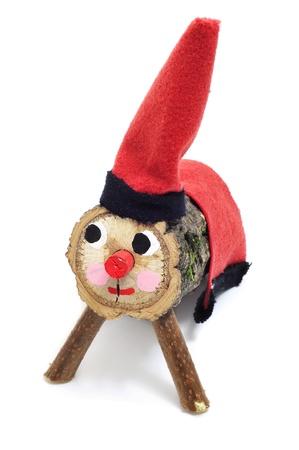 a Tio de Nadal, a typical Christmas character of Catalonia, Spain Banco de Imagens