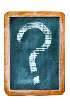 a chalkboard with a question marks written on it Stock Photo - 11326496