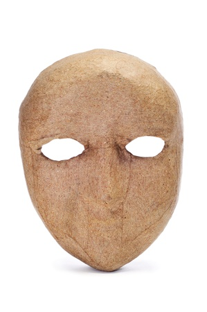 a simple paper-mache mask on a white background Stock Photo - 11326419