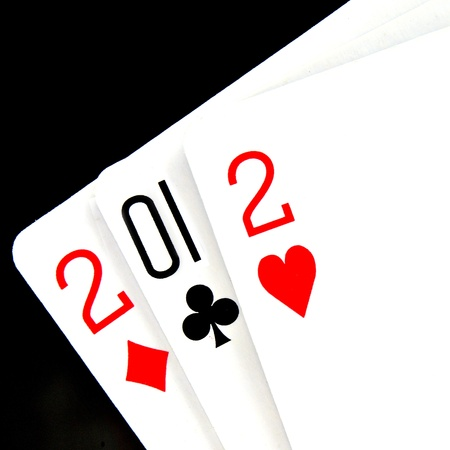 2012 written in playing cards photo