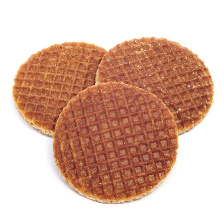 treacle: some stroopwafels on a white background
