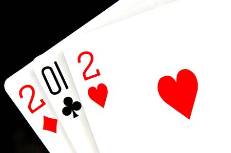 2012 written in playing cards Stock Photo - 11549645