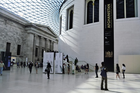 british museum: London, United Kingdom - May 8, 2011: Great Court of British Museum in London, United Kingdom. The Great Court is the largest covered square in Europe Editorial