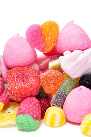 a pile of candies on a white background Stock Photo - 11549716