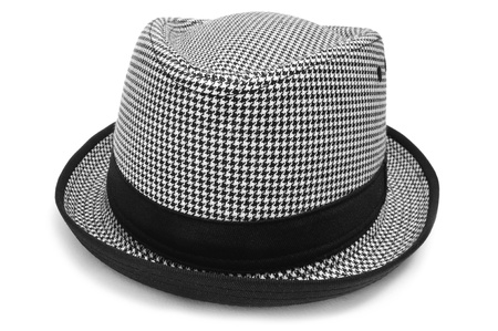 a checkered hat on a white background Stock Photo - 11549744