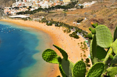 aerial view of Teresitas Beach in Tenerife, Canary Islands, Spain Stock Photo - 11549745