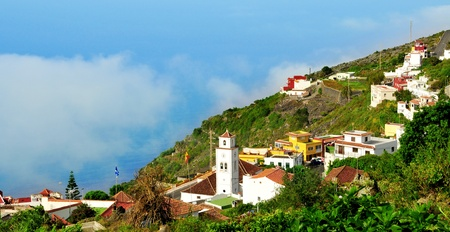 view of Garachico, built on the mountainside, in Tenerife, Canary Islands, Spain Stock Photo - 11549743