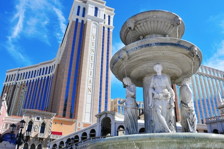 Las Vegas, US - October 13, 2011: The Venetian Resort Hotel Casino in Vegas, US. The luxury resort has a five-diamond hotel with 4,049 suites and 4,059 hotel rooms