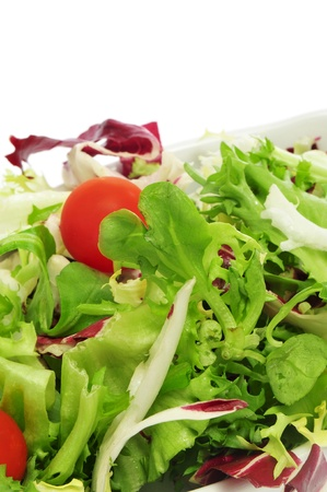 closeup of a plate of salad with cherry tomatoes Stock Photo - 11770813