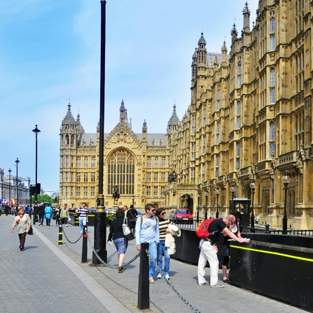 historic site: London, United Kingdom - May 6, 2011: Westminster Palace in London, United Kingdom. The palace is part of a UNESCO World Heritage Site since 1987 Editorial