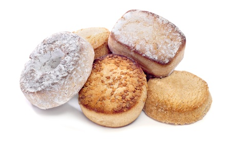 a pile of mantecados and polvorones, typical spanish Christmas sweets Stock Photo - 11914304