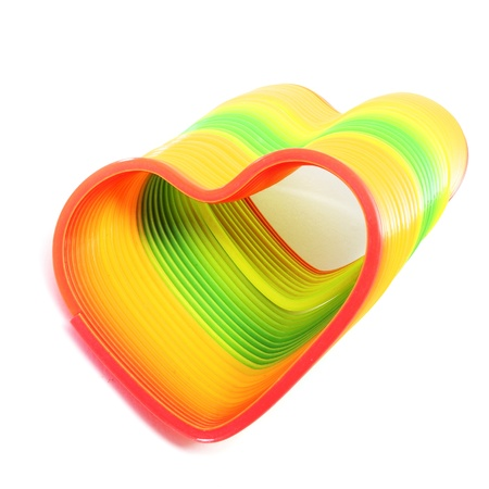 heart of different colors on a white background Stock Photo - 11915359