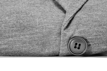 closeup of a gray cardigan on a white background Stock Photo - 11915384