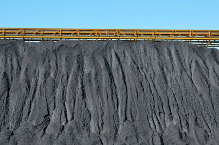 conveyor belts: closeup of the facilities of a coal industry