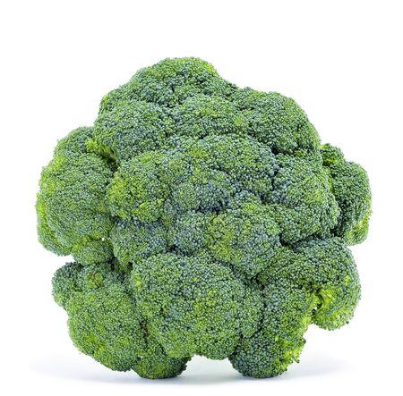 head of cauliflower: closeup of a broccoli on a white background