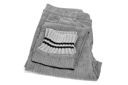 folded trousers on a white background Stock Photo - 11996381