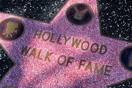 hollywood   california: Los Angeles - October 15, 2011: Star of Hollywood Walk of Fame in Los Angeles. There are more than 2,400 five-pointed stars which attract about 10 million visitors annually