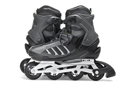 rollerblade: a pair of inline skates on a white background Stock Photo