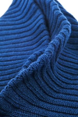 closeup of a wavy blue knitted fabric Stock Photo - 12210953