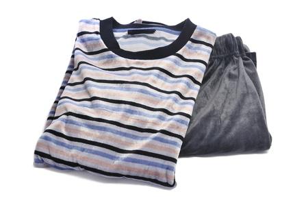 striped pajamas: striped pajama on a white background