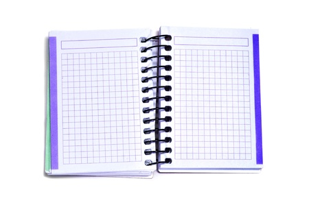 closeup of a blank spiral notebook on a white background Stock Photo - 12210968