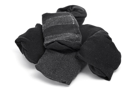 a pile of folded socks on a white background Stock Photo - 12210987