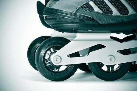 rollerblade: closeup of a pair of inline skates