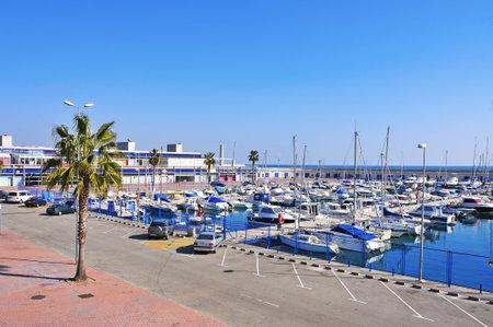 moorings: Tarragona, Spain - February 10, 2012: Port Esportiu de Tarragona in Tarragona, Spain. This marina has 6 meters of vessel draught, 400 moorings and 400 parking lots