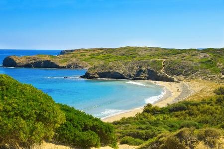 Cala de en Tortuga beach in Menorca, Balearic Islands, Spain Stock Photo