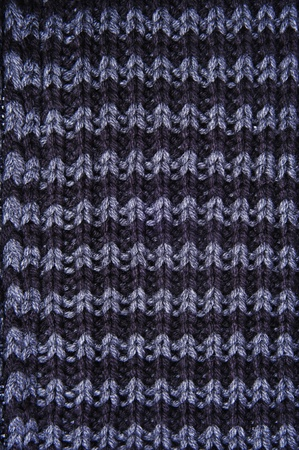 closeup of a patterned knitted fabric photo