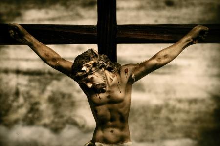 een voorstelling van Jezus Christus in de heilige kruis