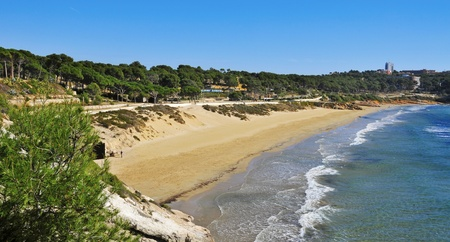 spanish landscapes: A view of Platja Llarga beach, in Salou, Spain
