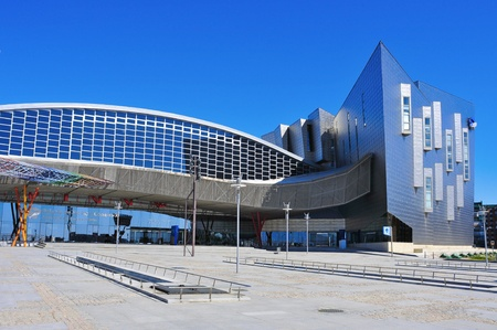 palacio: Marlaga, Spain, March 13, 2012:  Trade Fair and Congress Center in Malaga, Spain. This building has a total area of 60,000 m2, of which 17,000 m2 are dedicated to exhibition area