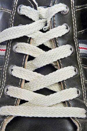 closuep of a laced casual shoe Stock Photo - 12893935